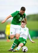 30 May 2019; Matt Doherty of Republic of Ireland in action against Stephen Mallon of Republic of Ireland U21's during the Friendly match between Republic of Ireland and Republic of Ireland U21's at the FAI National Training Centre in Dublin. Photo by Harry Murphy/Sportsfile