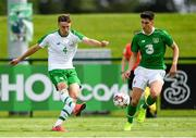30 May 2019; Conor Masterson of Republic of Ireland in action against Callum O'Dowda of Republic of Ireland U21's during the Friendly match between Republic of Ireland and Republic of Ireland U21's at the FAI National Training Centre in Dublin. Photo by Harry Murphy/Sportsfile