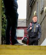 31 May 2019; Gary Shaw of St Patrick's Athletic arrives ahead of the SSE Airtricity League Premier Division match between St Patrick's Athletic and Cork City at Richmond Park in Dublin. Photo by Michael P Ryan/Sportsfile