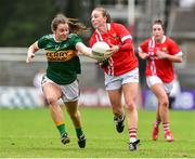 1 June 2019; Aishling Hutchings of Cork in action against Anna Galvin of Kerry during the TG4 Munster Ladies Football Senior Championship match between Cork and Kerry at Páirc Ui Rinn in Cork. Photo by Matt Browne/Sportsfile