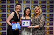 31 May 2019; The 2019 Teams of the Lidl Ladies National Football League awards were presented at Croke Park on Friday, May 31. The best players from the four divisions in the Lidl National Football Leagues were selected by the LGFA's All Star committee. Charlotte Cooney of Galway is pictured receiving her Division 1 award from Marie Hickey, Ladies Gaelic Football Association President, and Sian Gray, Head of Marketing, Lidl Ireland. Photo by David Fitzgerald/Sportsfile