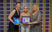 31 May 2019; The 2019 Teams of the Lidl Ladies National Football League awards were presented at Croke Park on Friday, May 31. The best players from the four divisions in the Lidl National Football Leagues were selected by the LGFA's All Star committee. Sarah Harding Kenny of Wexford is pictured receiving her Division 2 award from Marie Hickey, Ladies Gaelic Football Association President, and Sian Gray, Head of Marketing, Lidl Ireland. Photo by David Fitzgerald/Sportsfile