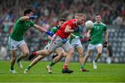 1 June 2019; Ruairi Deane of Cork in action against Colm McSweeney and Iain Corbett of Limerick during the Munster GAA Football Senior Championship semi-final match between Cork and Limerick at Páirc Ui Rinn in Cork. Photo by Matt Browne/Sportsfile