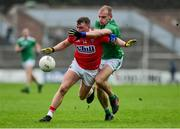 1 June 2019; Brian Hurley of Cork in action against Sean O'Dea of Limerick during the Munster GAA Football Senior Championship semi-final match between Cork and Limerick at Páirc Ui Rinn in Cork. Photo by Matt Browne/Sportsfile