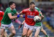 1 June 2019; Paul Kerrigan of Cork in action against Liam O'Donovan of Limerick during the Munster GAA Football Senior Championship semi-final match between Cork and Limerick at Páirc Ui Rinn in Cork. Photo by Matt Browne/Sportsfile