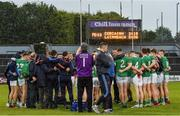 1 June 2019; Limerick players huddle after the Munster GAA Football Senior Championship semi-final match between Cork and Limerick at Páirc Ui Rinn in Cork. Photo by Matt Browne/Sportsfile