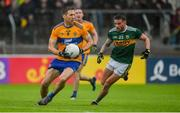 1 June 2019; Gary Brennan of Clare in action against Michéal Burns of Kerry during the Munster GAA Football Senior Championship semi-final match between Clare and Kerry at Cusack Park in Ennis, Co Clare. Photo by Diarmuid Greene/Sportsfile
