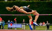1 June 2019; Caitlin Kennedy of John The Baptist Community School, Co Limerick, competing in the Inter Girls High Jump event during the Irish Life Health All-Ireland Schools Track and Field Championships in Tullamore, Co Offaly. Photo by Sam Barnes/Sportsfile