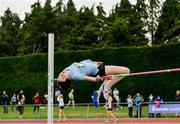 1 June 2019; Aoife O'Sullivan of St Marys Mallow, Co. Cork, competing in the Inter Girls High Jump event during the Irish Life Health All-Ireland Schools Track and Field Championships in Tullamore, Co Offaly. Photo by Sam Barnes/Sportsfile