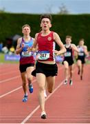 1 June 2019; Matteo Mary of St. Declans, Co. Waterford, on his way to winning the Inter Boys 1500m event during the Irish Life Health All-Ireland Schools Track and Field Championships in Tullamore, Co Offaly. Photo by Sam Barnes/Sportsfile