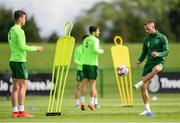 2 June 2019; Conor Hourihane, right, and Kevin Long during a Republic of Ireland Training Session at the FAI National Training Centre in Abbotstown, Dublin. Photo by Harry Murphy/Sportsfile