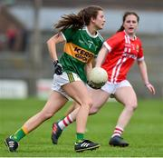 1 June 2019; Ciara Murphy of Kerry in action against Cork during the TG4 Munster Ladies Football Senior Championship match between Cork and Kerry at Páirc Ui Rinn in Cork. Photo by Matt Browne/Sportsfile