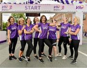 2 June 2019; Pictured are the VHI Ambassadors, from left, Aoibhín Garrihy, Clare Garrihy, Georgie Crawford, Ailbhe Garrihy, Doireann Garrihy, Pamela Joyce, Nicole Owens and Leanne Moore prior to the 2019 Vhi Women's Mini Marathon. 30,000 women from all over the country took to the streets of Dublin to run, walk and jog the 10km route, raising much needed funds for hundreds of charities around the country. www.vhiwomensminimarathon.ie. Photo by Sam Barnes/Sportsfile