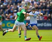 2 June 2019; Jamie Barron of Waterford in action against William O'Donoghue of Limerick during the Munster GAA Hurling Senior Championship Round 3 match between Waterford and Limerick at Walsh Park in Waterford. Photo by Ramsey Cardy/Sportsfile