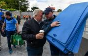 2 June 2019; Tipperary coach Eoin Kelly in conversation with Tipperary supporter Kevin Brady, from Roscrea, as the Tipperary squad arrive prior to the Munster GAA Hurling Senior Championship Round 3 match between Clare and Tipperary at Cusack Park in Ennis, Co. Clare. Photo by Diarmuid Greene/Sportsfile