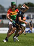 2 June 2019; Cian Boland of Dublin in action against David English of Carlow during Leinster GAA Hurling Senior Championship Round 3B match between Carlow and Dublin at Netwatch Cullen Park in Carlow. Photo by Ray McManus/Sportsfile