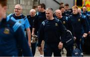 2 June 2019; Tipperary manager Liam Sheedy, right, and coach Eamon O'Shea arrive prior to the Munster GAA Hurling Senior Championship Round 3 match between Clare and Tipperary at Cusack Park in Ennis, Co. Clare. Photo by Diarmuid Greene/Sportsfile