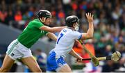 2 June 2019; Kevin Moran of Waterford in action against Gearoid Hegarty of Limerick during the Munster GAA Hurling Senior Championship Round 3 match between Waterford and Limerick at Walsh Park in Waterford. Photo by Ramsey Cardy/Sportsfile