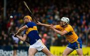 2 June 2019; Séamus Callanan of Tipperary in action against Patrick O'Connor of Clare during the Munster GAA Hurling Senior Championship Round 3 match between Clare and Tipperary at Cusack Park in Ennis, Co. Clare. Photo by Diarmuid Greene/Sportsfile