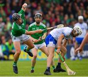 2 June 2019; Peter Casey of Limerick in action against Conor Gleeson of Waterford during the Munster GAA Hurling Senior Championship Round 3 match between Waterford and Limerick at Walsh Park in Waterford. Photo by Ramsey Cardy/Sportsfile