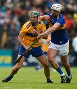 2 June 2019; Jack Browne of Clare in action against Patrick Maher of Tipperary during the Munster GAA Hurling Senior Championship Round 3 match between Clare and Tipperary at Cusack Park in Ennis, Co. Clare. Photo by Diarmuid Greene/Sportsfile