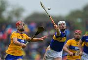 2 June 2019; Michael Breen of Tipperary in action against Peter Duggan of Clare during the Munster GAA Hurling Senior Championship Round 3 match between Clare and Tipperary at Cusack Park in Ennis, Co Clare. Photo by Piaras Ó Mídheach/Sportsfile