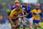 2 June 2019; Peter Duggan of Clare in action against Michael Breen of Tipperary during the Munster GAA Hurling Senior Championship Round 3 match between Clare and Tipperary at Cusack Park in Ennis, Co Clare. Photo by Piaras Ó Mídheach/Sportsfile