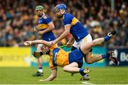 2 June 2019; Tony Kelly of Clare in action against John McGrath of Tipperary during the Munster GAA Hurling Senior Championship Round 3 match between Clare and Tipperary at Cusack Park in Ennis, Co.Clare. Photo by Diarmuid Greene/Sportsfile