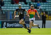 2 June 2019; Chris Crummey of Dublin in action against Séamus Murphy of Carlow during the Leinster GAA Hurling Senior Championship Round 3B match between Carlow and Dublin at Netwatch Cullen Park in Carlow. Photo by Ray McManus/Sportsfile