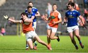 2 June 2019; Jarleth Óg Burns of Armagh in action against Niall Murray of Cavan during the Ulster GAA Football Senior Championship Semi-Final match between Cavan and Armagh at St Tiernach's Park in Clones, Monaghan. Photo by Oliver McVeigh/Sportsfile