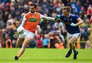 2 June 2019; Jamie Clarke of Armagh in action against Jason McLoughlin of Cavanduring the Ulster GAA Football Senior Championship Semi-Final match between Cavan and Armagh at St Tiernach's Park in Clones, Monaghan. Photo by Oliver McVeigh/Sportsfile