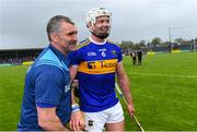 2 June 2019; Tipperary manager Liam Sheedy with Pádraic Maher after the Munster GAA Hurling Senior Championship Round 3 match between Clare and Tipperary at Cusack Park in Ennis, Co Clare. Photo by Piaras Ó Mídheach/Sportsfile