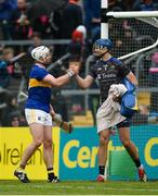 2 June 2019; Pádraic Maher, left, and Brian Hogan of Tipperary celebrate after the Munster GAA Hurling Senior Championship Round 3 match between Clare and Tipperary at Cusack Park in Ennis, Co. Clare. Photo by Diarmuid Greene/Sportsfile