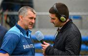 2 June 2019; Tipperary manager Liam Sheedy is interviewed by Liam Aherne of RTE after the Munster GAA Hurling Senior Championship Round 3 match between Clare and Tipperary at Cusack Park in Ennis, Co. Clare. Photo by Diarmuid Greene/Sportsfile