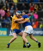 2 June 2019; Diarmuid Ryan of Clare in action against Willie Connors of Tipperary during the Munster GAA Hurling Senior Championship Round 3 match between Clare and Tipperary at Cusack Park in Ennis, Co. Clare. Photo by Diarmuid Greene/Sportsfile
