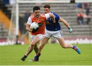 2 June 2019; Aidan Forker of Armagh in action against Ciaran Brady of Cavan during the Ulster GAA Football Senior Championship Semi-Final match between Cavan and Armagh at St Tiernach's Park in Clones, Monaghan. Photo by Oliver McVeigh/Sportsfile