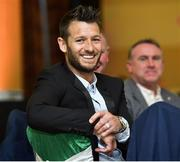 2 June 2019; Former Republic of Ireland player Wes Hoolahan during the CRISC Player of the Year Awards at Crowne Plaza Hotel in Blanchardstown, Dublin. Photo by Matt Browne/Sportsfile