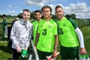3 June 2019; Dylan Lynch, age 16, from Rathnew, Co Wicklow meets players, from left, Robbie Brady, Jeff Hendrick and Richard Keogh as part of the Share A Dream Foundation during a Republic of Ireland meet and greet at FAI National Training Centre in Abbotstown, Dublin. Photo by David Fitzgerald/Sportsfile