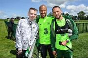 3 June 2019; Dylan Lynch, age 16, from Rathnew, Co Wicklow meets players Conor Hourihane, right, and Darren Randolph as part of the Share A Dream Foundation during a Republic of Ireland meet and greet at FAI National Training Centre in Abbotstown, Dublin. Photo by David Fitzgerald/Sportsfile