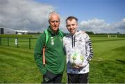 3 June 2019; Dylan Lynch, age 16, from Rathnew, Co Wicklow meets manager Mick McCarthy as part of the Share A Dream Foundation during a Republic of Ireland meet and greet at FAI National Training Centre in Abbotstown, Dublin. Photo by David Fitzgerald/Sportsfile