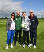 3 June 2019; Dylan Lynch, age 16, from Rathnew, Co Wicklow with his mother Cathy and Shay Kinsella from the Share A Dream Foundation, right, meet manager Mick McCarthy as part of the Share A Dream Foundation during a Republic of Ireland meet and greet at FAI National Training Centre in Abbotstown, Dublin. Photo by David Fitzgerald/Sportsfile