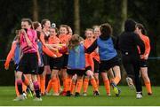 3 June 2019; Sligo/Leitrim players celebrate following the game between MGL North and Sligo/Leitrim during the FAI Fota Island Gaynor Tournament U13s Finals Day at University of Limerick, Limerick. Photo by Eóin Noonan/Sportsfile