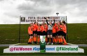 3 June 2019; Sligo/Leitrim players celebrate with the cup after beating MGL North in the Cup Final during the FAI Fota Island Gaynor Tournament U13s Finals Day at University of Limerick, Limerick. Photo by Eóin Noonan/Sportsfile