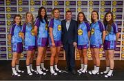 31 May 2019; The 2019 Teams of the Lidl Ladies National Football League awards were presented at Croke Park on Friday, May 31. The best players from the four divisions in the Lidl National Football Leagues were selected by the LGFA's All Star committee. Waterford manager Ciaran Curran is pictured with members of the Lidl Division 2 Team of the League from county Waterford, from left, Aileen Wall, Maria Delahunty, Michelle Ryan, Rosie Landers, Emma Murray, Karen McGrath and Roísín Tobin. Photo by David Fitzgerald/Sportsfile