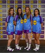 31 May 2019; The 2019 Teams of the Lidl Ladies National Football League awards were presented at Croke Park on Friday, May 31. The best players from the four divisions in the Lidl National Football Leagues were selected by the LGFA's All Star committee. Pictured are members of the Lidl Division 2 Team of the League from county Galway, from left, Sinéad Burke, Roísín Leonard, Louise Ward and Charlotte Cooney. Photo by David Fitzgerald/Sportsfile