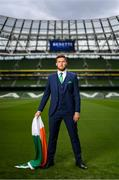 3 June 2019; Republic of Ireland's Matt Doherty at the official launch of the new team suit for 2019 from sponsor Benetti Menswear at the Aviva Stadium in Dublin. Benetti are the official tailor to the FAI. For further information about Benetti log on to www.benetti.ie. Photo by Stephen McCarthy/Sportsfile