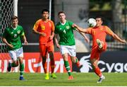3 June 2019; /Binbin Chen of China in action against Conor Masterson of Ireland  / during the 2019 Maurice Revello Toulon Tournament match between China and Republic of Ireland at Stade de Lattre de Tassigny in Aubagne, France. Photo by Alexandre Dimou/Sportsfile