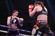 1 June 2019; Katie Taylor during her Undisputed Female World Lightweight Championship fight with Delfine Persoon at Madison Square Garden in New York, USA. Photo by Stephen McCarthy/Sportsfile