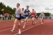 1 June 2019; Darragh McElhinney of Col Pobail, Co. Cork, left, competing in the Senior Boys 1500m event during the Irish Life Health All-Ireland Schools Track and Field Championships in Tullamore, Co Offaly. Photo by Sam Barnes/Sportsfile