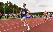 1 June 2019; Aaron Cullen of Portmarnock Communitt School, Co. Dublin, competing in the Senior Boys 1500m event during the Irish Life Health All-Ireland Schools Track and Field Championships in Tullamore, Co Offaly. Photo by Sam Barnes/Sportsfile